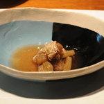 茅乃舎 - 赤ズイキの煮浸し