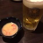 函館海鮮居酒屋 魚まさ - ビールとお通し