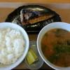 おおばやし食堂 - 料理写真:サバの塩焼き、豚汁、めし小
