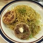 やきそば屋 - ミラクル(3玉)+ミニお好み焼き+ハンバーグ