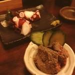 居酒屋 ごえん - レバ味噌とタコぶつ☺︎レバ味噌がなかなかです!!