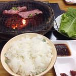 寿苑 - 2015.11  大盛りライス&サンチュ