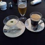 44763174 - ホリデーランチ デザートとアイスコーヒー