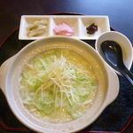 カフェ メゾン - 土鍋鶏塩うどん   2015.11月