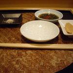 鮨 福元 - 塩もブランドかな、わすれた