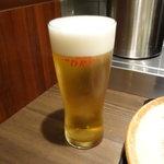 牛かつもと村 - 生ビール中500円