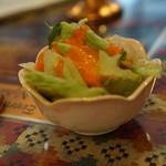 エベレストキッチン インディアンネパーリレストラン - お子様セットのサラダ
