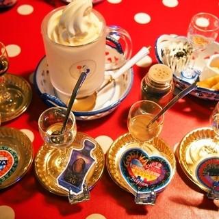ミルク村 - 料理写真:Aセット ダルジャン(お酒2種×2名分)