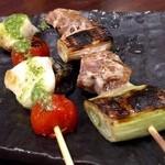 魚串さくらさく - すずきとトマト&マグロとネギ!