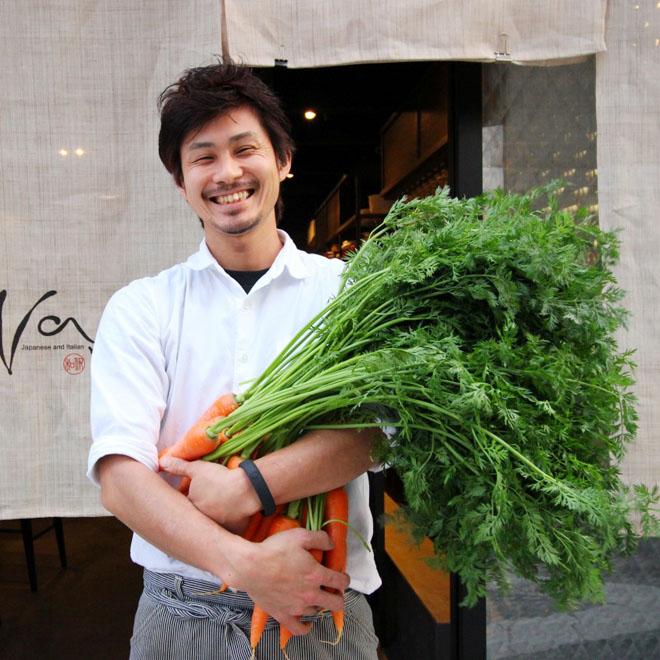 オススメの有機野菜たっぷりのイタリアンコースを事前のご予約で500円オフ!