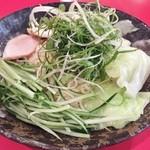 ばくだん屋 - 広島つけ麺(並)802円+半熟玉子72円