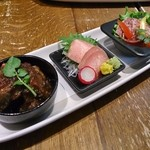 牛たん炭焼き 利久 - 晩酌セット(牛たん料理三種盛り)