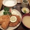 いちかわ - 料理写真:上ロース定食1,250円ご飯少なめ+アジフライ250円