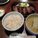 べこ政宗 - 本場仙台味噌 みそとろ牛たん焼き定食 2,360円