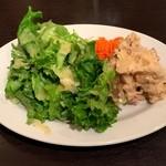 ビストロ石川亭 - 焼きねぎと鴨の南蛮風ポテサラ グリーンサラダ添え