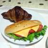 ポラリス - 料理写真:クロワッサン180円、ツナトマトチーズフォカッチャサンド200円