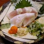 鶏料理・焼きとり 纜 - 胸肉のたたき=大和鶏り美味し!