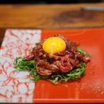 旬熟成 - 熟成肉のユッケ