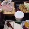 金太郎 - 料理写真:カキフライとお刺身のランチ
