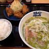 海鳴食堂 - 料理写真:「ラーメンジェノバ」(700円)+「唐揚げ」(200円)。