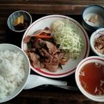 深川 伊勢屋 - ある日の日替わり(焼き豚肉定食)780円