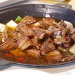 味坊鉄鍋荘 - 干大根と羊スペアリブの鍋