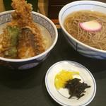 うどんウエスト - エビ天丼(ミニ)セット