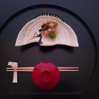 京都 吉兆 - 料理写真:お祝い向付[イメージ]