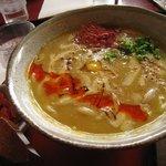 庵 - ラー油とちょい焦げチーズが美味しい!
