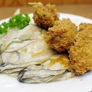 小田保 - 料理写真:カキミックス定食