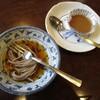 コーヒーハウス たんま - 料理写真:セットになっている一口そばとコーヒーゼリー!