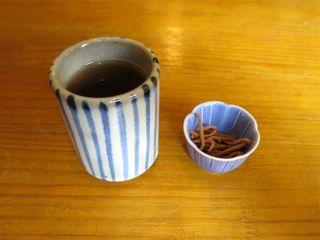 そば処 古楽 - 蕎麦茶と揚げそば