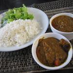 アル バッハラ - 料理写真:ランチカレーセット(野菜・魚)♪
