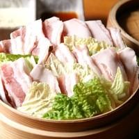 南の島豚と新鮮白菜重ねせいろ蒸し