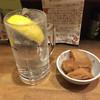 志の笛 - 料理写真:キンミヤ炭酸レモン、お通し/じゃが芋煮ころがし