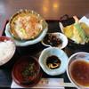 お食事処うきは - 料理写真:暫く待つと注文したざる豆腐定食870円が出来あがってテーブルに運ばれてきました。