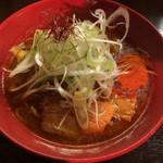 辛味噌煮干らーめん・つけめん 六 - 辛味噌煮干葱らーめん 780円 2辛