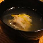 鎌倉山倶楽部 - お椀は、クエの蕪蒸し 鰹を感じるお出しです