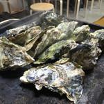 カキ小屋フィーバー - 牡蠣のガンガン焼き1キロで12個でした