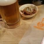 錦華楼 - 生ビールセット