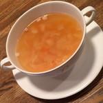 ビストロ オララ - ランチ付属のスープ2015年12月