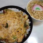 屋島 - かき揚丼(ミニうどん付き+120円)