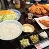 とんかつ浜勝 - 料理写真:かきふらいとヒレ膳+クーポンのメンチ(2015.12)