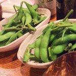 炭蔵 - あったか枝豆