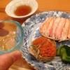 森しげ - 料理写真:香箱蟹と地元の日本酒で一献