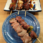 小太郎 - 201512 鶏モツを塩、豚モツをタレで。
