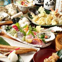 【大人気】旬の海鮮盛りが入った宴会コース