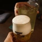 45339536 - 生ビー(561円)と緑茶(389円)