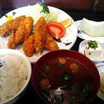 串よし - 2月カキフライ定食¥980