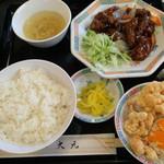 大元 - 酢豚定食